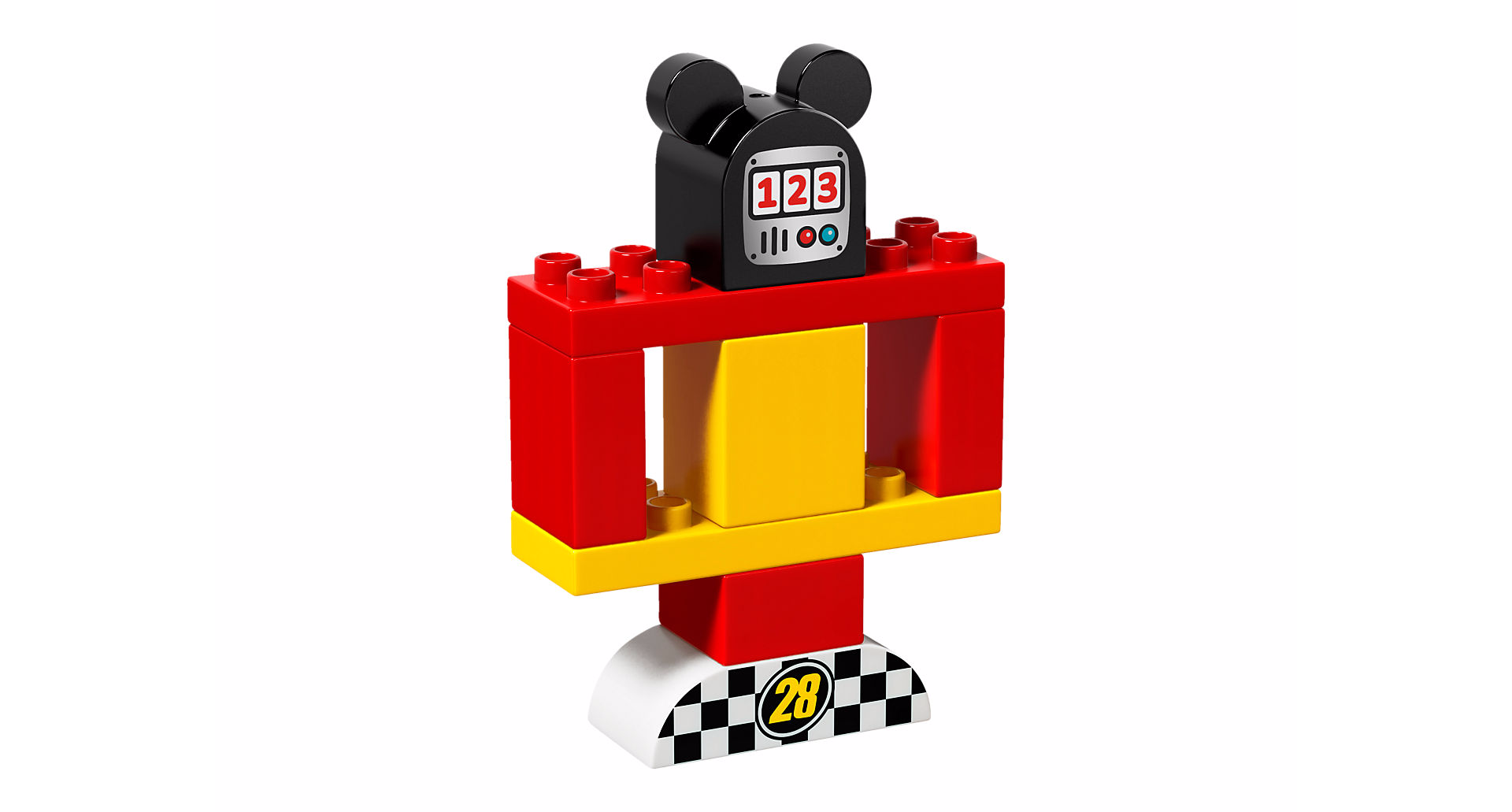 lego duplo la voiture de course de mickey. Black Bedroom Furniture Sets. Home Design Ideas