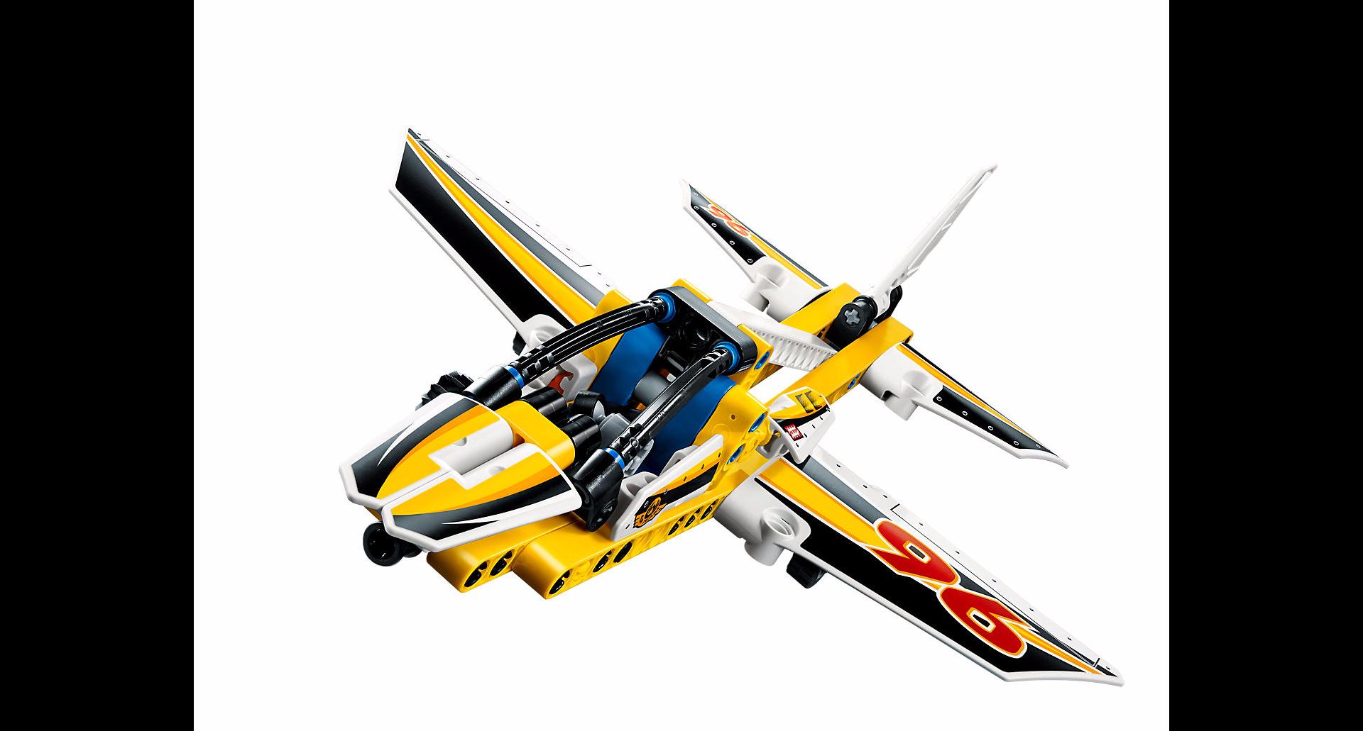 Lego technic l 39 avion de chasse acrobatique - Avion de chasse en lego ...