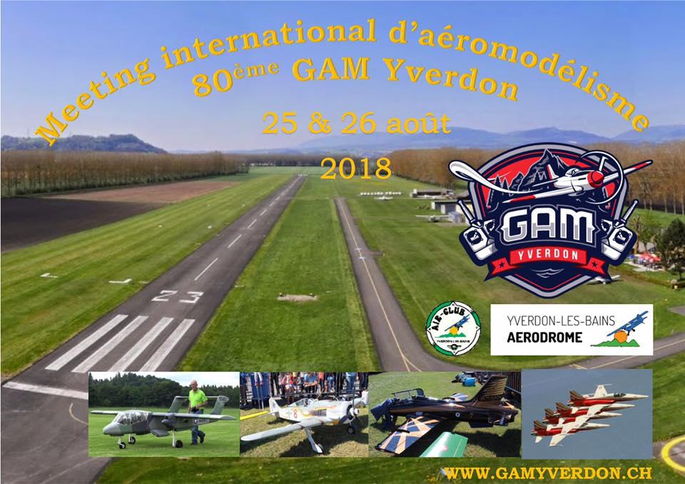 Meeting international d'aéromodélisme 80ème GAM Yverdon @ Aérodrome d'Yverdon-les-Bains | Yverdon-les-Bains | Vaud | Suisse