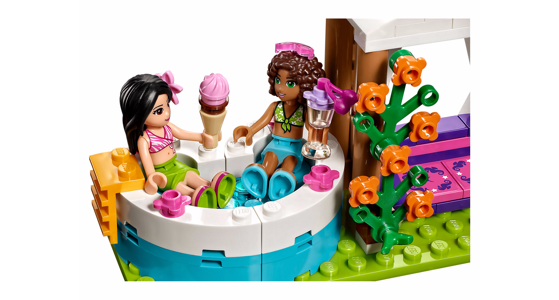 lego friends la piscine d 39 heartlake city. Black Bedroom Furniture Sets. Home Design Ideas