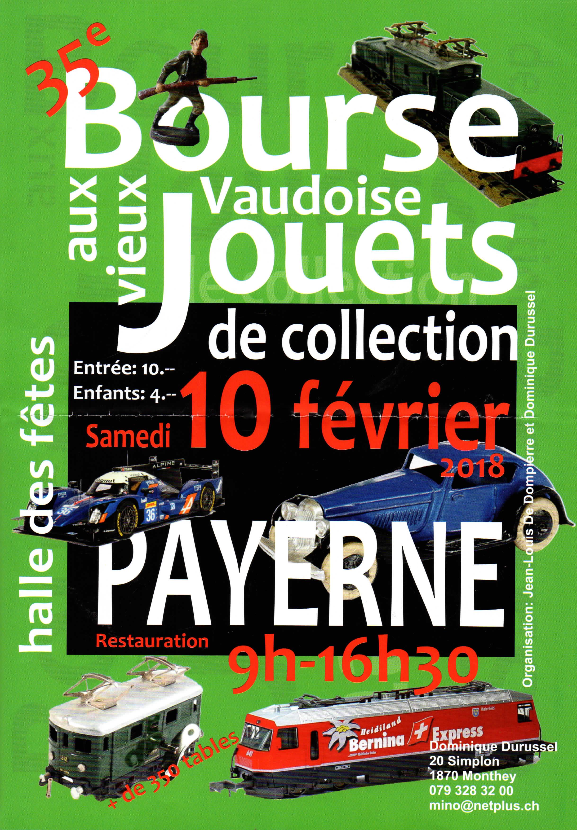 Bourse Vaudoise aux vieux jouets (35e) @ Halle des fêtes | Payerne | Vaud | Suisse